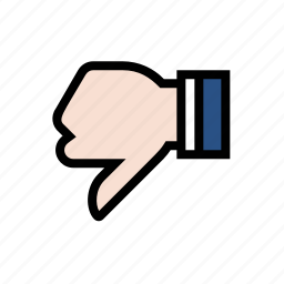 dislike, downvote, gesture, hand, thumbs down icon