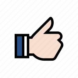 gesture, hand, like, thumbs up, upvote icon
