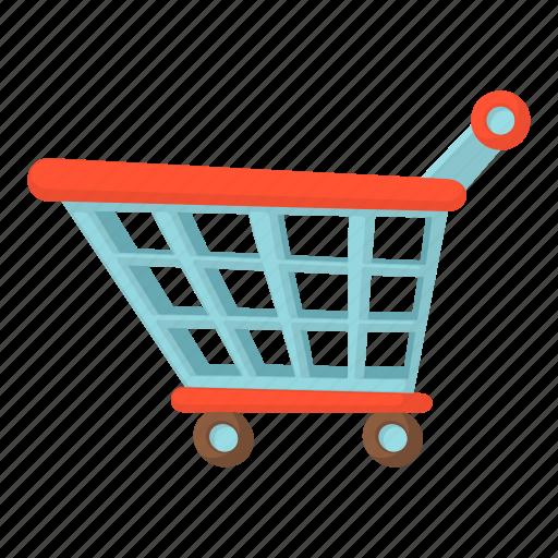 buy, cartoon, merchant, sell, shopping cart, supermarket icon