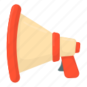 cartoon, horn, loudspeaker, megaphone, speaker, speech, voice icon