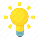bulb, cartoon, electric, electricity, idea, lamp, light icon