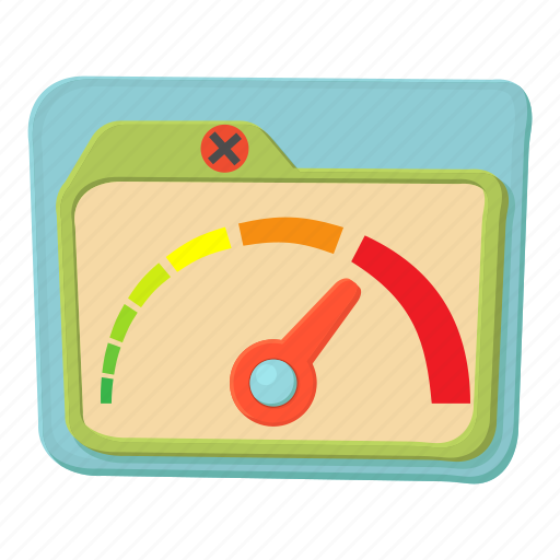 cartoon, dial, high, indicator, limit, meter, speed icon