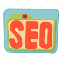 cartoon, cloud, design, popularity, rocket, search, seo icon