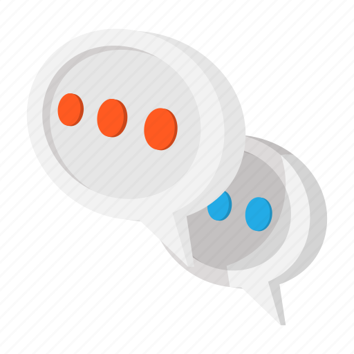 cartoon, chat, communication, message, speak, speech, talk icon