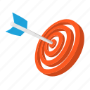 accuracy, business, cartoon, dart, dartboard, objective, target icon