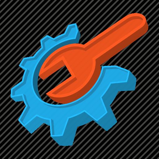 build, cartoon, gear, repair, settings, tools, wrench icon