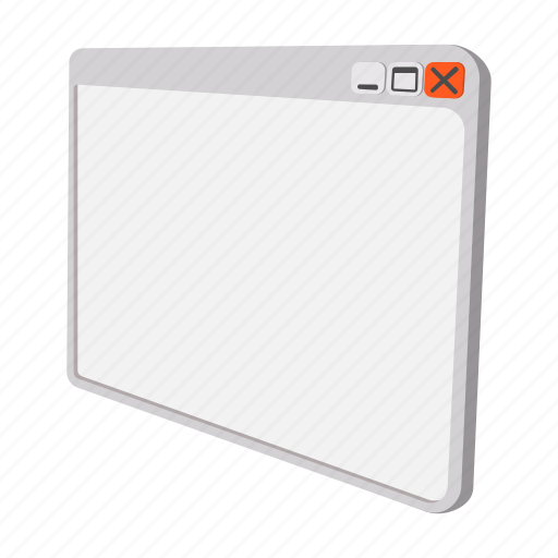 browser, cartoon, empty, page, program, template, view icon