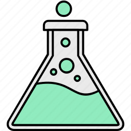 flask, lab, research, search icon