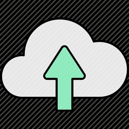 cloud, computing, database, receiving, server, storage, upload icon