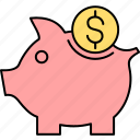 bank, finance, money, payment, piggy, saving, savings icon
