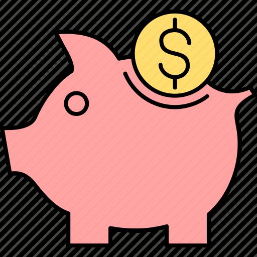 bank, finance, money, payment, piggy, saving, savings icon