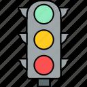 light, signal, traffic, road