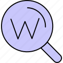 search, seo, web icon
