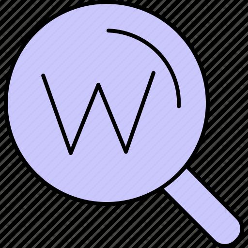 search, seo, web icon