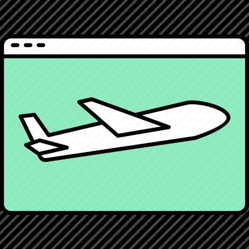 aeroplane, airplane icon