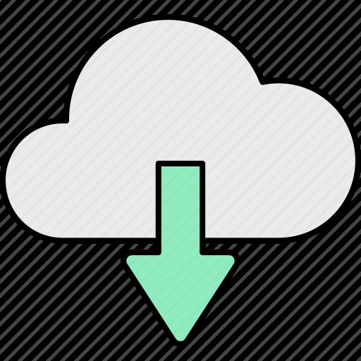cloud, computing, database, download, server, storage icon