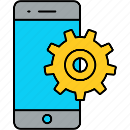 phone, setting, settings icon