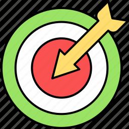 aim, dart, dartboard, focus, goal, target icon