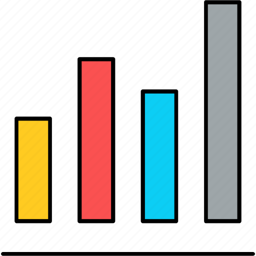 analysis, diagram, graph, growth, presentation, report, seo icon