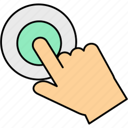 click, gesture, gestures, touch icon
