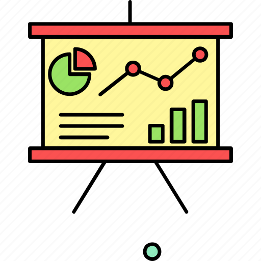 analytics, board, chart, diagram, graph, presentation, report icon