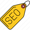 marketing, optimization, seo, tag icon