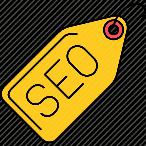 marketing, optimization, seo, tag icon
