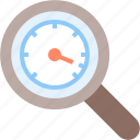 glass, magnifying, optimization, search, speed, speedometer, zoom