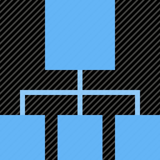 chart, flow, hierarchy, management, organisation, structure, workflow icon