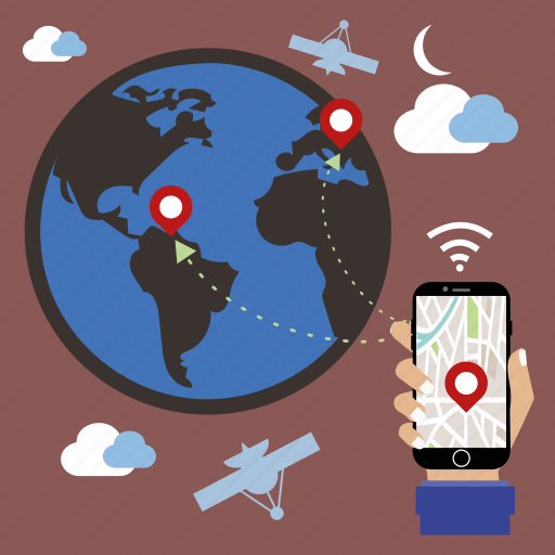 communication, connection, gps, location, mobile, seo, world icon