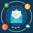 communication, email, envelope, mail, message, send, seo icon