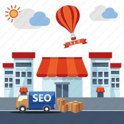 business, ecommerce, marketing, seo, shop, shopping, store icon