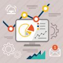 analitics, analysis, analytics, diagram, finance, seo, statistics icon