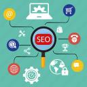 business, diagram, financial, graph, optimization, report, seo icon