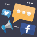 chat, communication, facebook, media, seo, social, twitter icon
