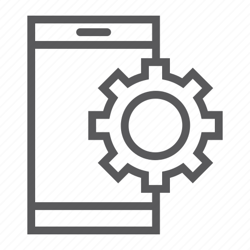 app, cogwheel, gear, setting, smartphone, technology icon