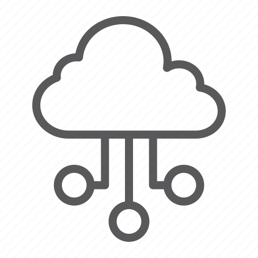 cloud, computing, data, global, internet, network, seo icon