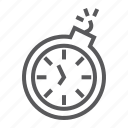bomb, clock, deadline, fast, stopwatch, time, timer icon