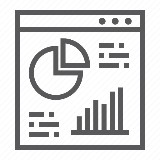 analysis, browser, chart, diagram, graph, infographic icon