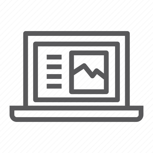 computer, digital, laptop, notebook, page, web icon