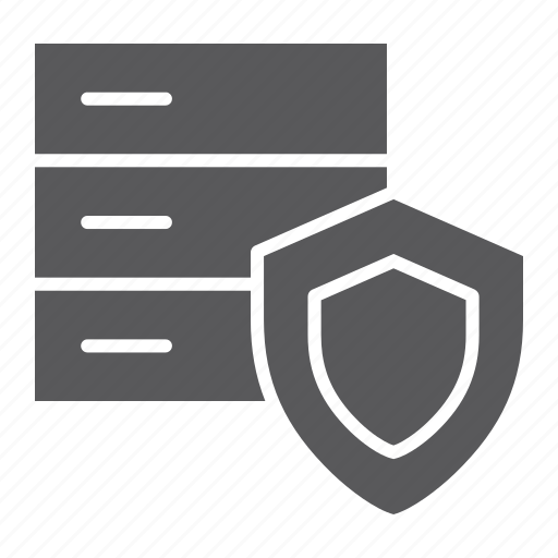 data, protection, safety, security, shield, storage icon