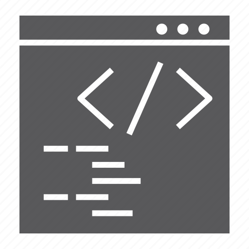 browser, code, development, internet, programming, web, website icon