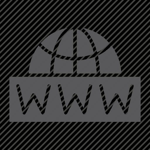 address, communication, internet, net, network, wide, world icon