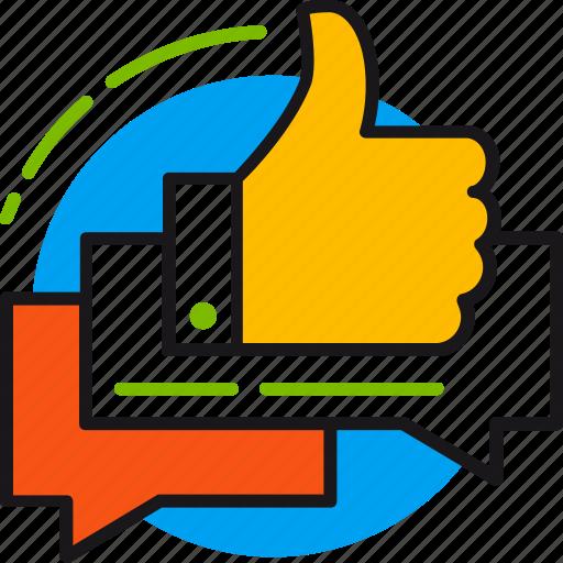 customer, feedback, like, reviews, service, thumb up, user icon
