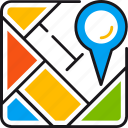 local, mosaic, navigation, optimization, pointer, segment, seo icon