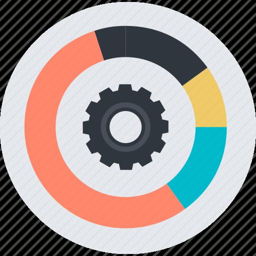app, data, development, flat design, management, round, seo icon