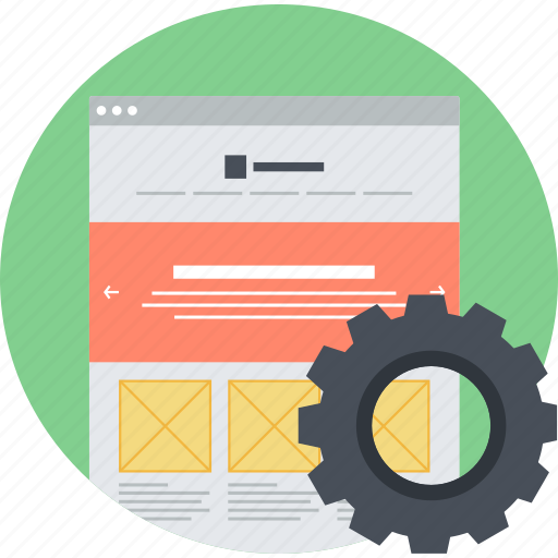 flat design, internet, optimization, round, seo, website icon