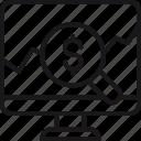 analytics, business, examine, finance, market, research, statistics icon