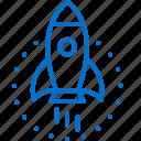 begin, business, launch, new, rocket, start, startup icon