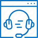 headphones, help, internet, online, service, support, web icon